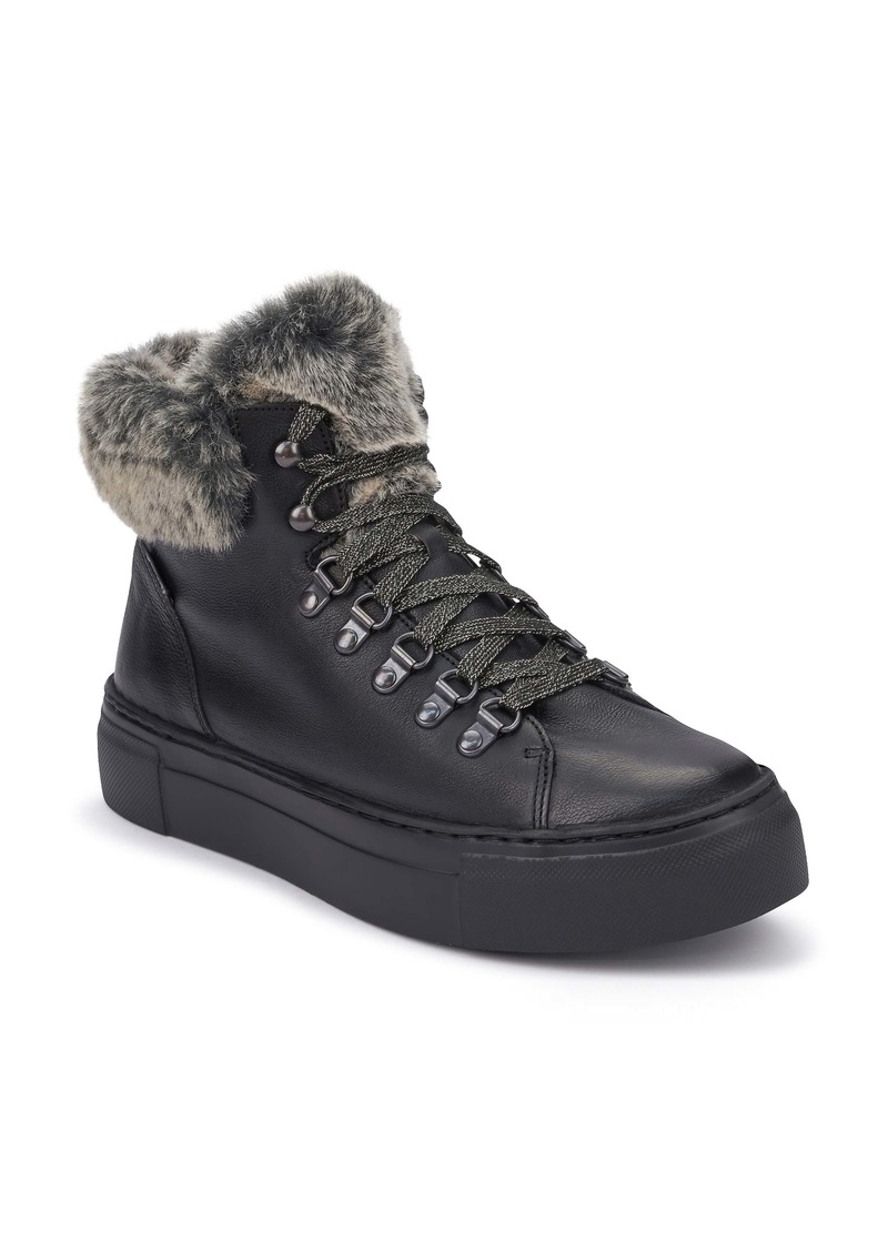 Mephisto Ginou Faux Fur Lined High Top Sneaker (Women)