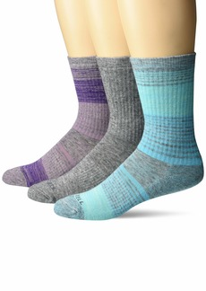 Merrell Men's Wool Blend Cushioned Hiker Crew Socks 3 Pair  S/M