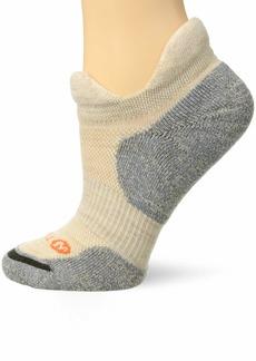 Merrell Women's 1 Pack Cushioned Dual Tab Trail Glove Runner Low Cut Socks