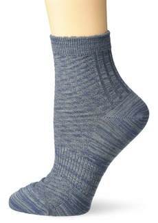 Merrell Women's 1 Pack Cushioned Random Feed Texture Ankle Socks