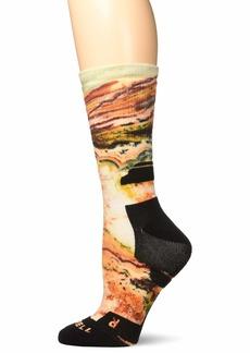 Merrell Women's 1 Pack Performance Printed Crew Socks rose cloud