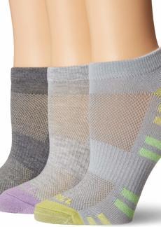 Merrell Women's 3 Pack Cushioned Performance Trainer Low Cut Socks