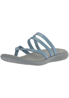 Merrell Women's Duskair Seaway Post Leather Sandal   Medium US