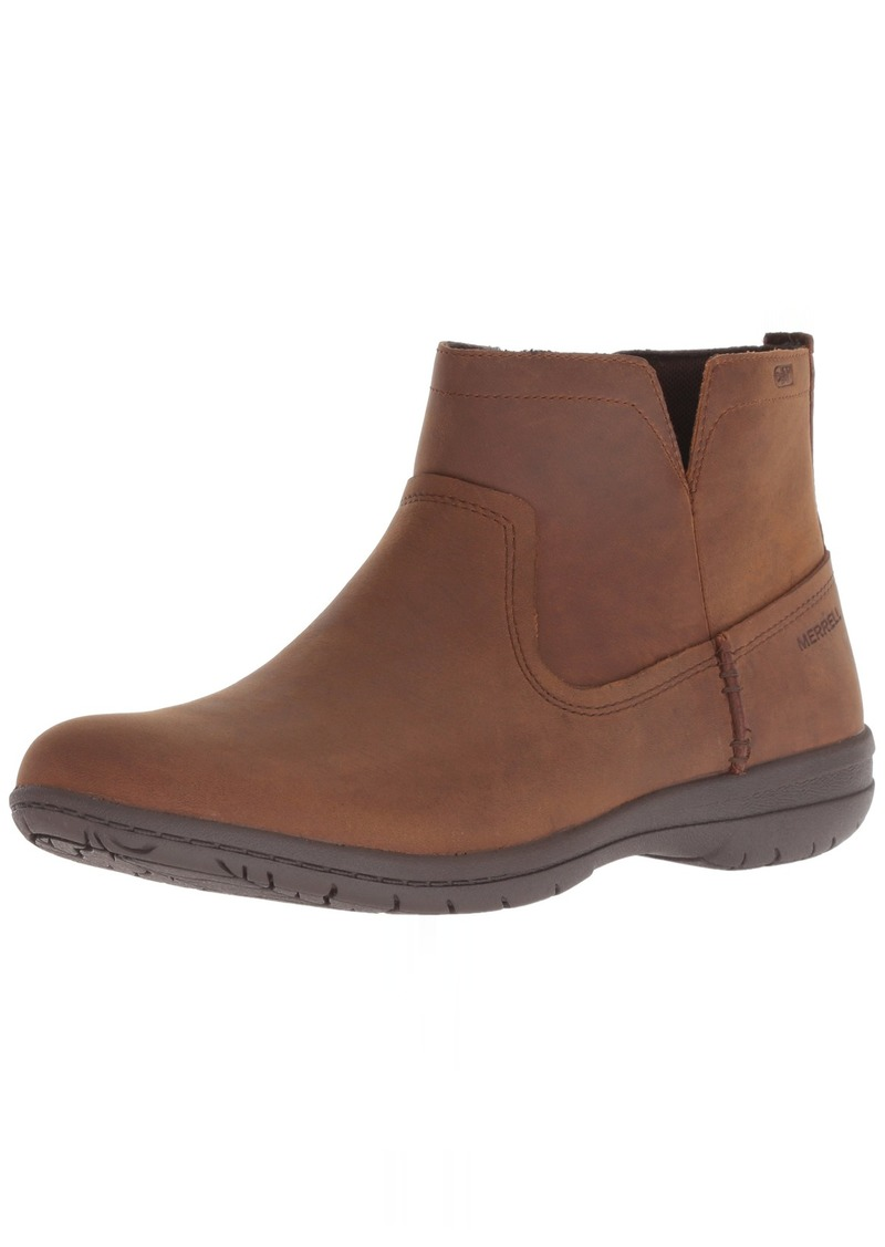 Merrell Women's Encore Kassie Waterproof Fashion Boot tan  M US