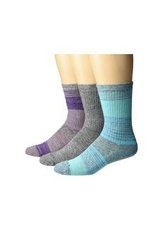 Merrell Wool Blend Cushioned Hiker Crew Socks 3-Pair