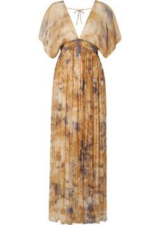 Mes Demoiselles Arizona open-back gathered crinkled-chiffon maxi dress
