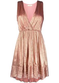 Mes Demoiselles Beyond metallic draped dress