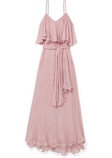 Mes Demoiselles Donatella Fil Coupé Georgette Maxi Dress