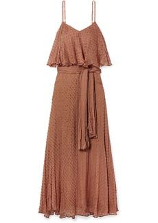 Mes Demoiselles Donatella Fil Coupé Voile Maxi Dress