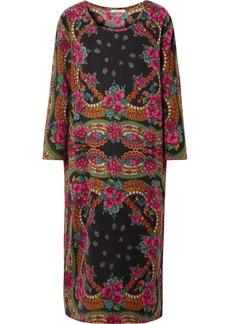 Mes Demoiselles Floral-print Cotton-blend Twill Midi Dress