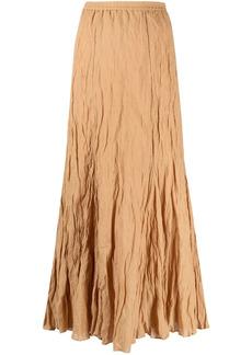 Mes Demoiselles full-length crinkle-effect skirt