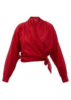 Mes Demoiselles Claudia cotton wrap top