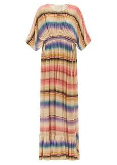 Mes Demoiselles Cozumel striped drawstring-waist maxi dress
