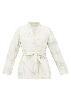 Mes Demoiselles Cumulus quilted cotton wrap jacket