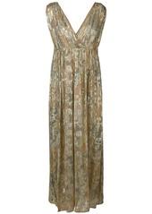 Mes Demoiselles embellished long dress - Metallic