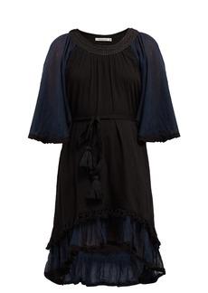 Mes Demoiselles Gregale embroidered cotton-voile midi dress