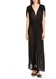 Mes Demoiselles Nokomis Sequin & Metallic Detail Maxi Dress