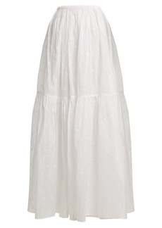 Mes Demoiselles Organdy Glor embroidered skirt