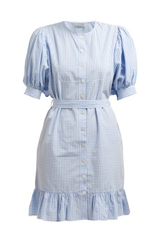 Mes Demoiselles Tropique gingham check cotton dress