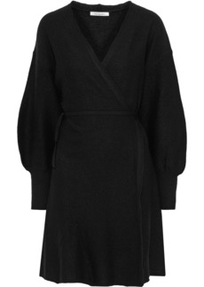 Mes Demoiselles Woman Sevilla Wool Wrap Dress Black
