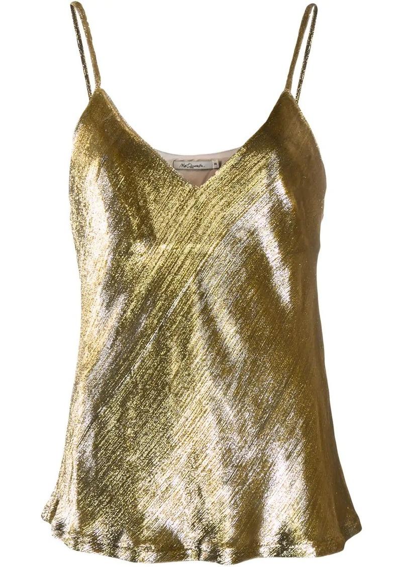 metallic vest top
