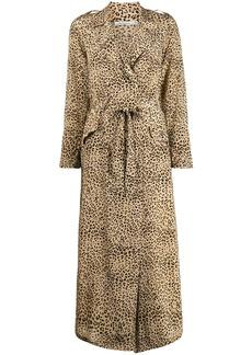 Mes Demoiselles Rosita leopard trench coat
