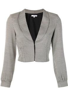 Miaou houndstooth cropped blazer