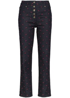 Miaou floral embroidered jeans