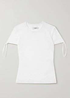 Miaou Tie Stretch-mesh T-shirt