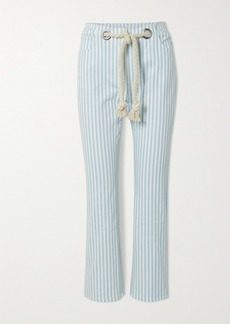 Miaou Tommy Belted Striped Straight-leg Jeans