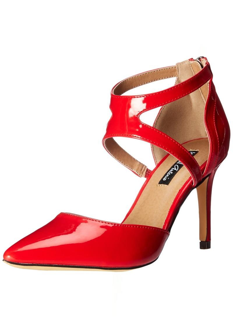 Michael Antonio Women's Lenni Heeled Sandal red  M US