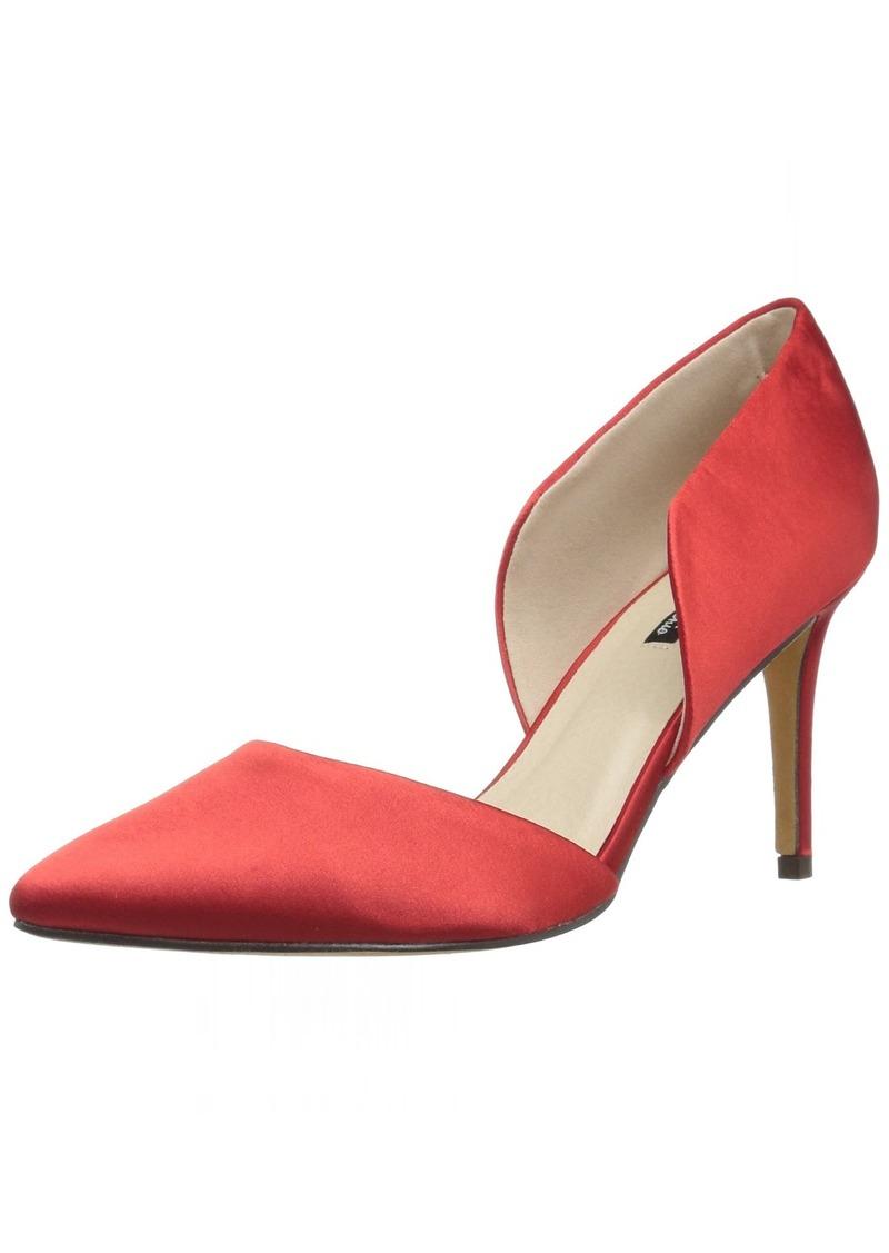 Michael Antonio Women's Luster Heeled Sandal red  M US