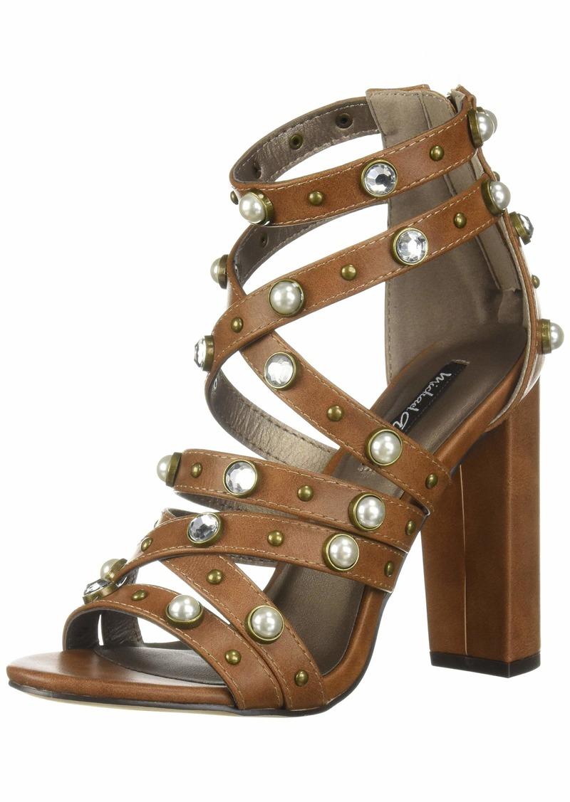 Michael Antonio Women's Renata Heeled Sandal tan  M US