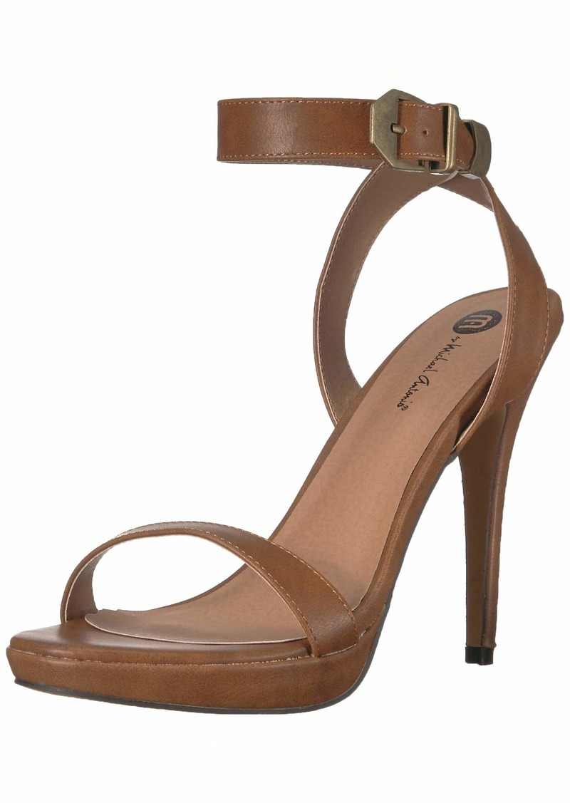 Michael Antonio Women's Ryanna Heeled Sandal tan  M US