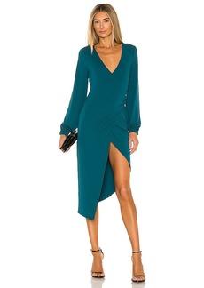 Michael Costello x REVOLVE Long Sleeve Wrap Midi Dress