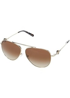 Michael Kors 59 mm Salina Aviator Metal Sunglasses MK1066B