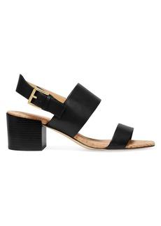 Michael Kors Angeline Leather Block Heel Sandals