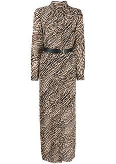 Michael Kors animal print shirt dress