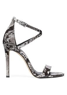 MICHAEL Michael Kors Antonia Snake-Print Embossed Leather Sandals