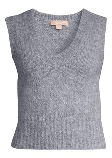 Michael Kors Aplaca & Wool-Blend Knit Vest