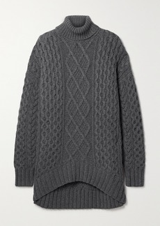 Michael Kors Aran Oversized Cable-knit Cashmere Turtleneck Sweater