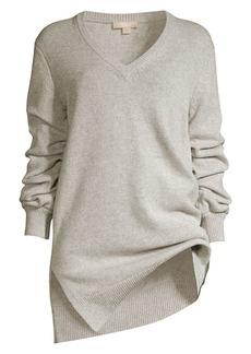 Michael Kors Asymmetric Cashmere V-Neck Sweater
