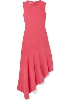 Michael Kors Asymmetric Wool-blend Midi Dress