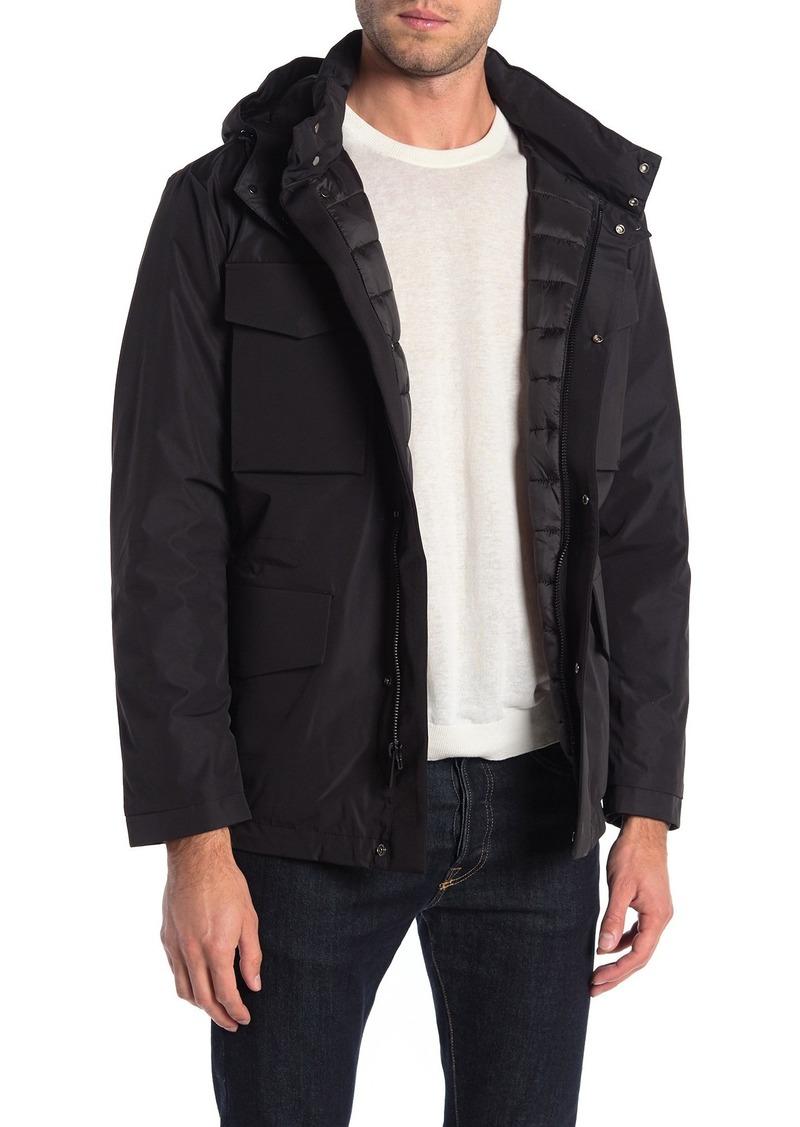 Michael Kors Baltimore Hooded Zip Utility Pocket Insulated Jacket