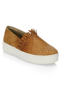 Michael Kors Basketweave Leather Sneakers