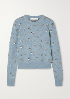 Michael Kors Bead-embellished Cashmere Sweater