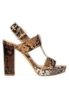 MICHAEL Michael Kors Becker Snakeskin-Embossed Leather Slingback Sandals