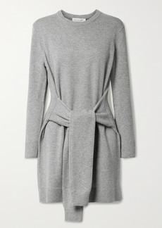 Michael Kors Belted Melange Cashmere Mini Dress