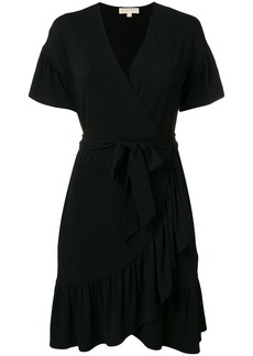 Michael Kors belted wrap dress