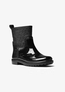 Michael Kors Blakeley Embossed-Leather and Rubber Rain Boot